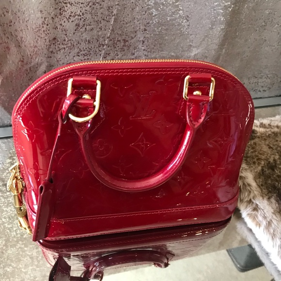 5ec77d36c71fb3 Louis Vuitton Bags | Alma Bb Mv Pomme Red Patent Leather | Poshmark